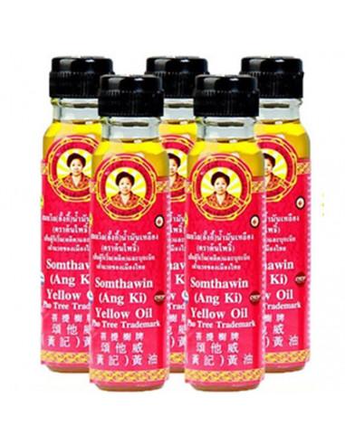 желтое масло монахов Somthawin Ang Ki oil